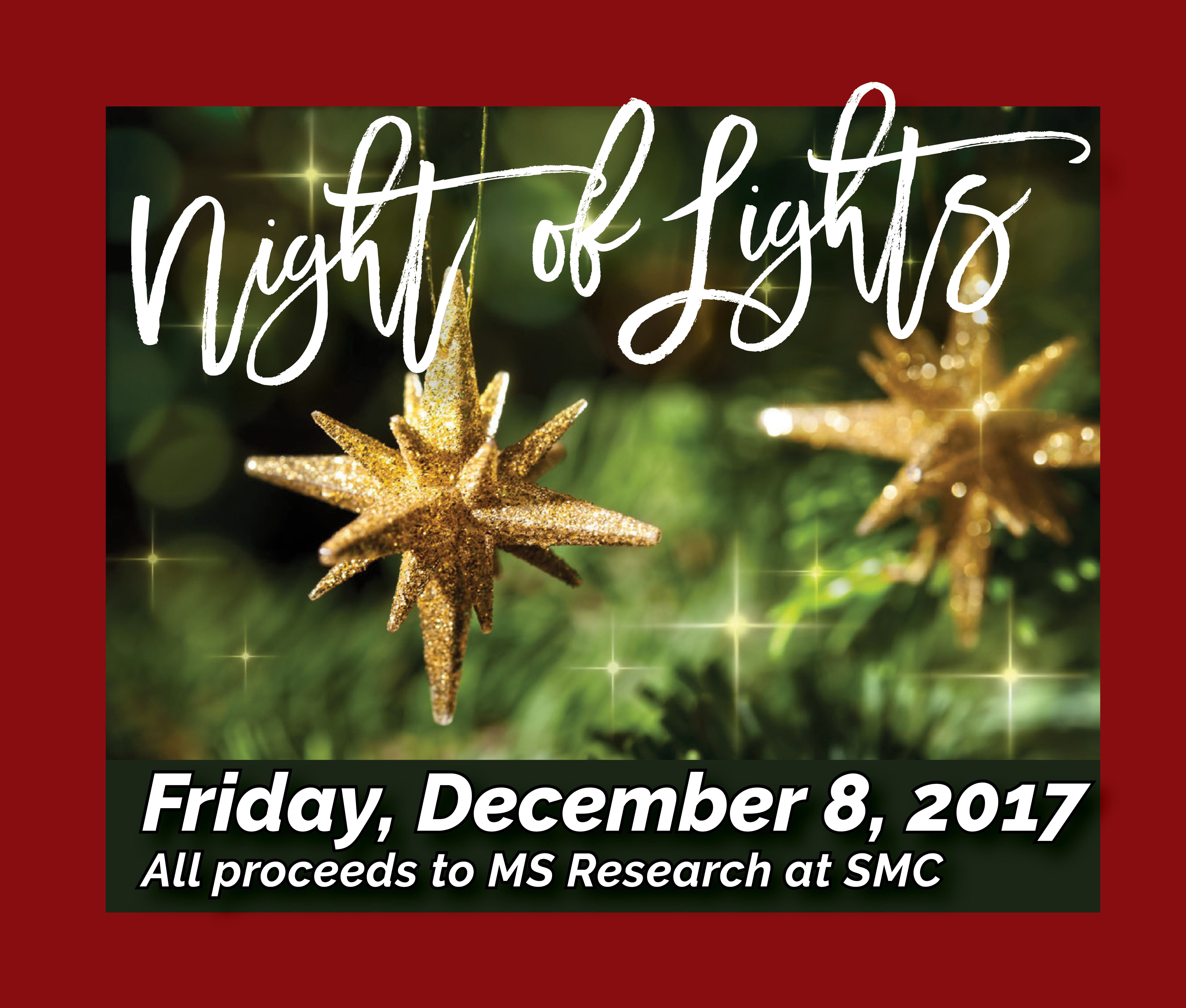 Don't forget to get the friends together for the Christmas Light Bus Tour!