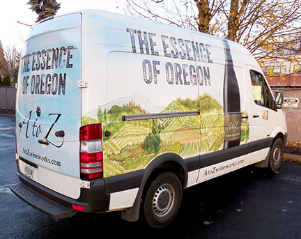 A to Z Wines Vehicle Wrap