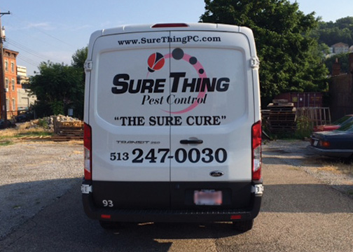 Sure Thing Pest Control Vehicle Graphics