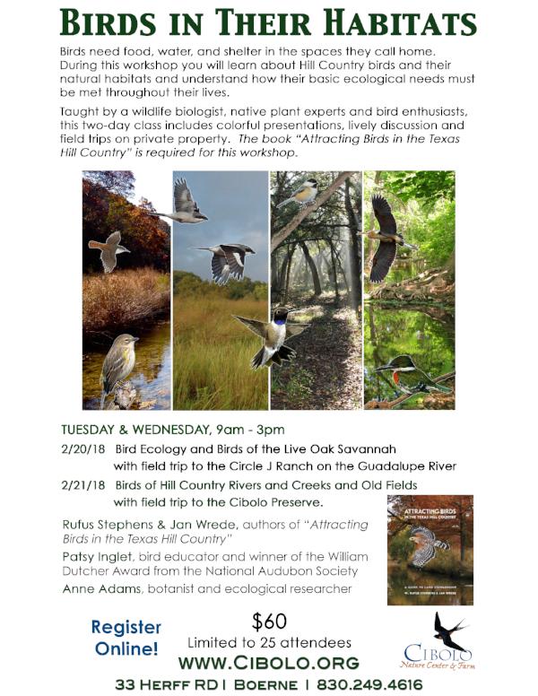 CNC: Birds in their Habitats 2-part Workshop