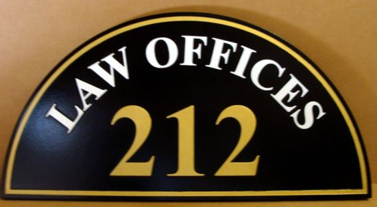 A10128B - Law Office Address Number Sign, above Georgian Door