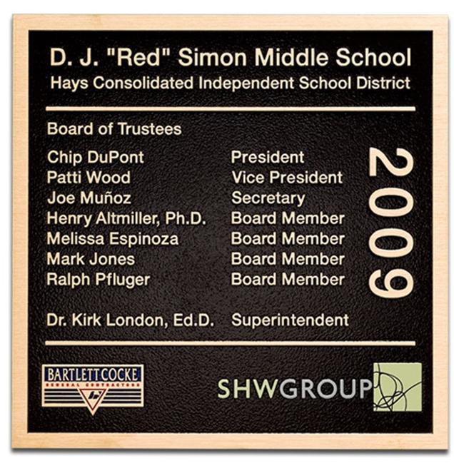 MH8080 - Cast Bronze Plaque for School, 2.5-D