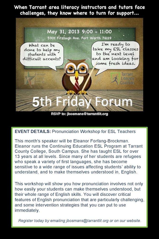 Fifth (Fourth) Friday Forum