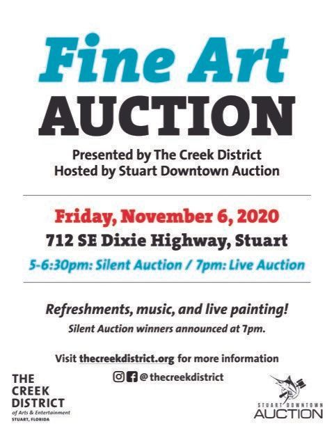 Fine Art Auction: Presented by The Creek District/Hosted by Stuart Downtown Auction