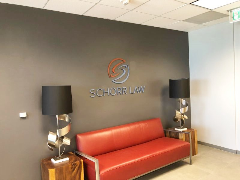 Reception wall logo signs in Los Angeles CA