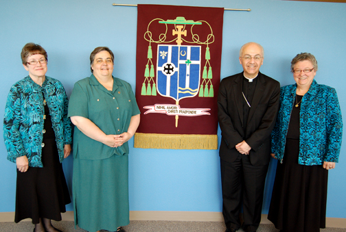 Sisters Create Coat of Arms for Bishop David D. Kagan, Bishop of Bismarck