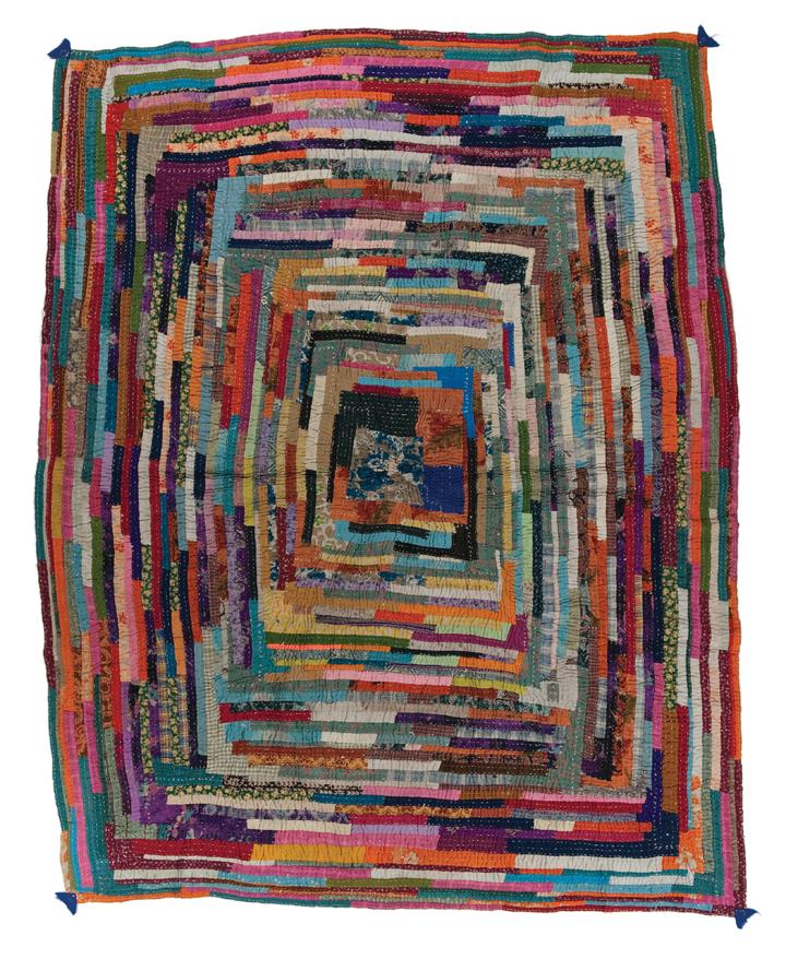 Gudari quilt, made in Maharashtra, India, circa 2000, Gift of Geeta Khandelwal, 78.5 x 63.5 in, IQSCM 2009.049.0007