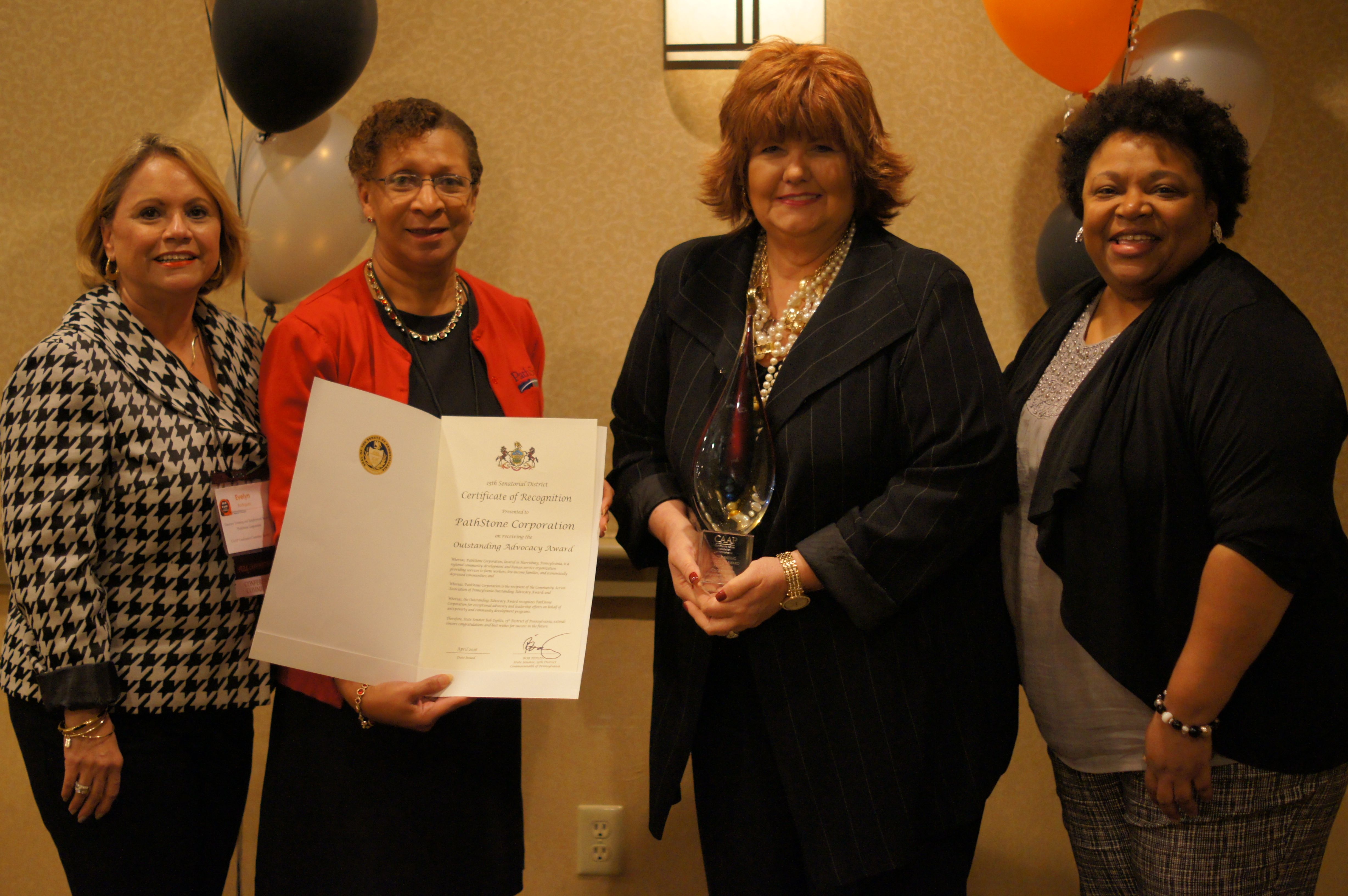 Outstanding Advocacy Award - PathStone