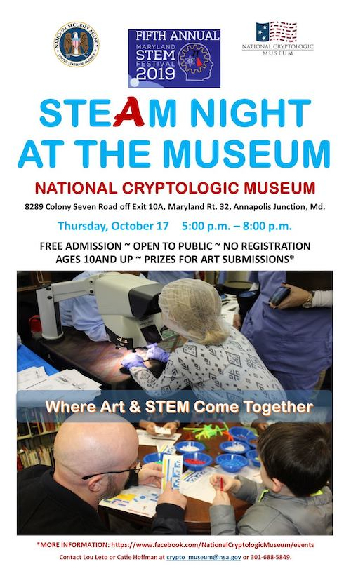 STEAM Night at the Museum 17 Oct - Submit your child's art by 10/10