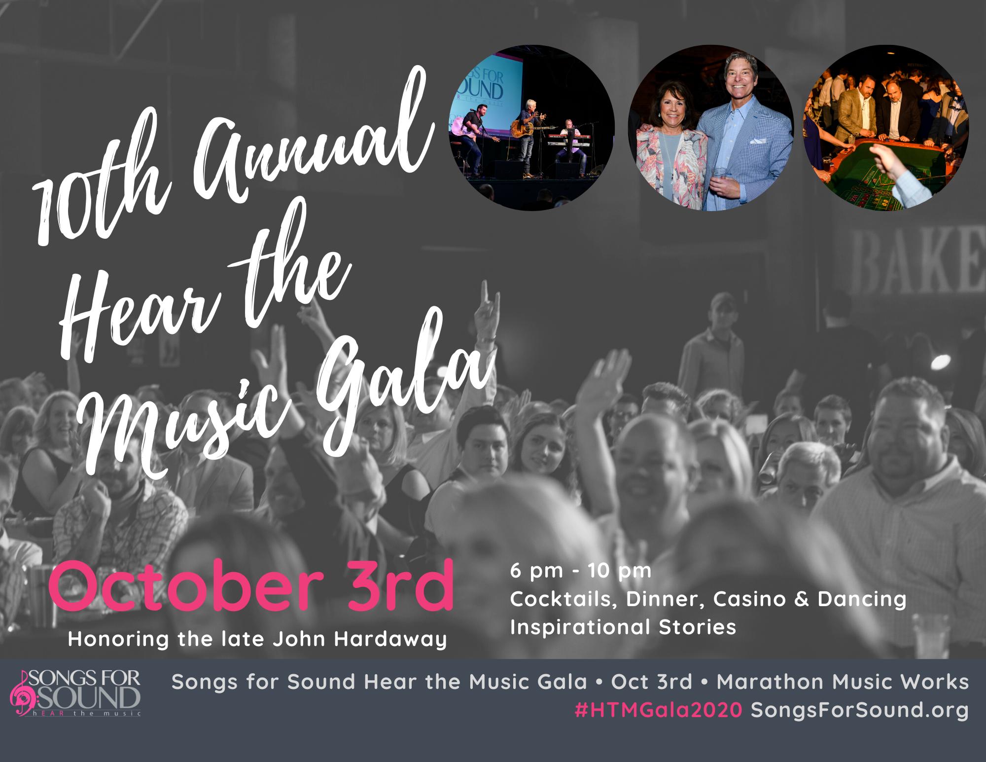 2020 Hear the Music Gala Table Sponsorship