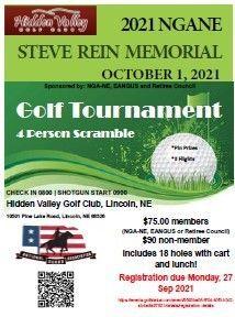 2021 NGANE Steve Rein Memorial Golf Tournament, October 1st, Hidden Valley Golf Club