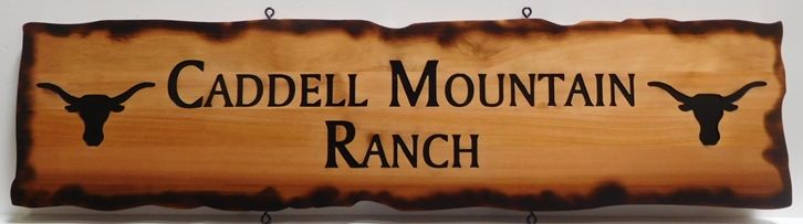 """Q24962 - Engraved Western Red Cedar Entrance Sign for the """"Carmel Mountain Ranch"""""""