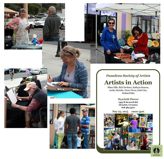 Artists in Action at Hyacinth Flower - May 23