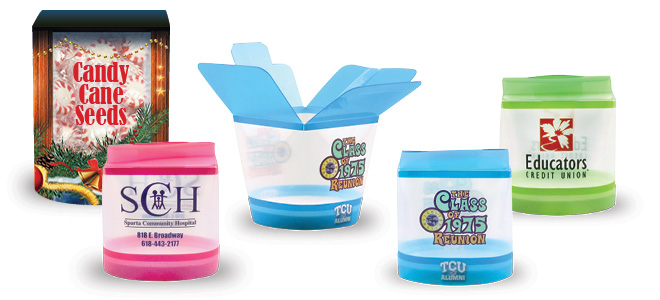 High Definition Full Color Gift Box Reusable Dishwasher Safe Reusable Plastic Containers