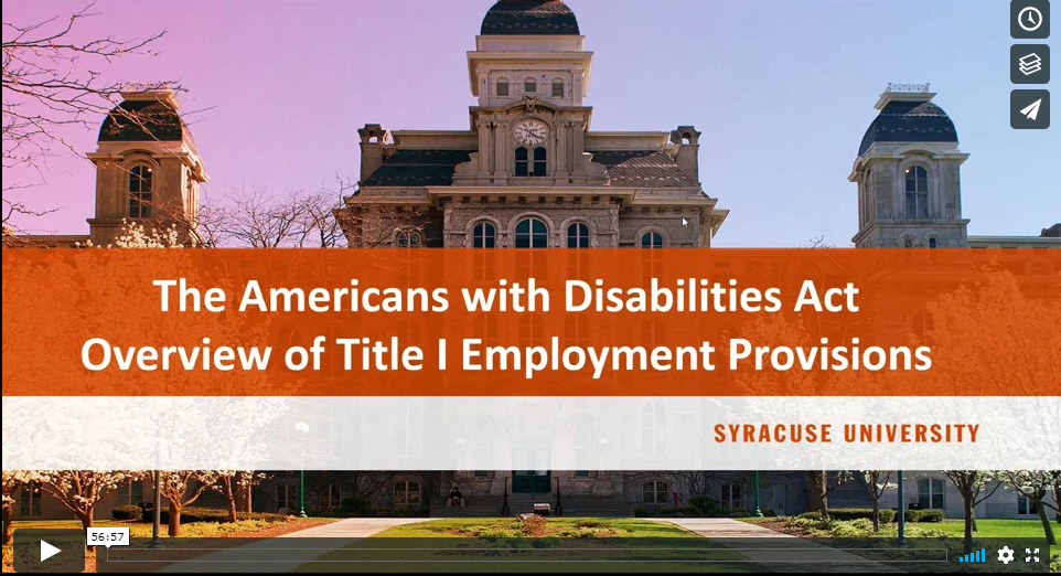 The Americans with Disabilities Act (ADA) and Employee Protections: What you need to know