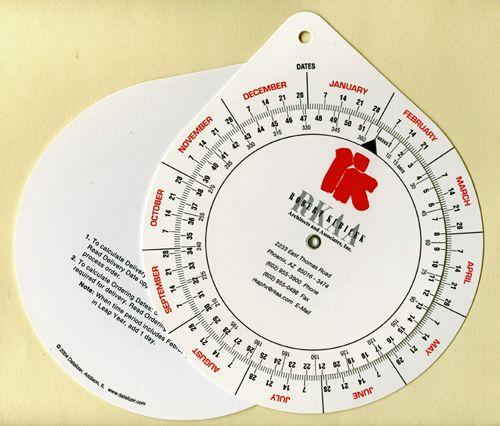 """6.75"""" Date Wheel"""