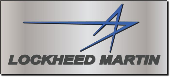 VP-1460 - Carved Wall Plaque of the Logo of Lockheed Martin,  Aluminum Plated