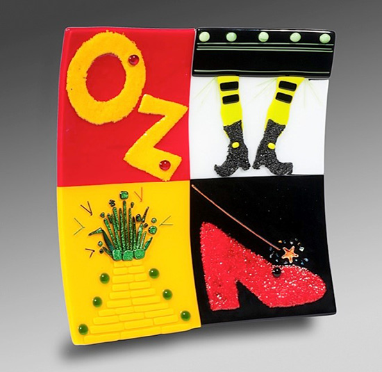 Oz, fused glass