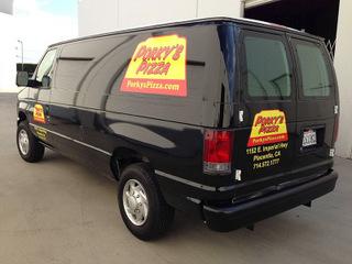 Custom vehicle wraps and graphics for Orange County Restaurants
