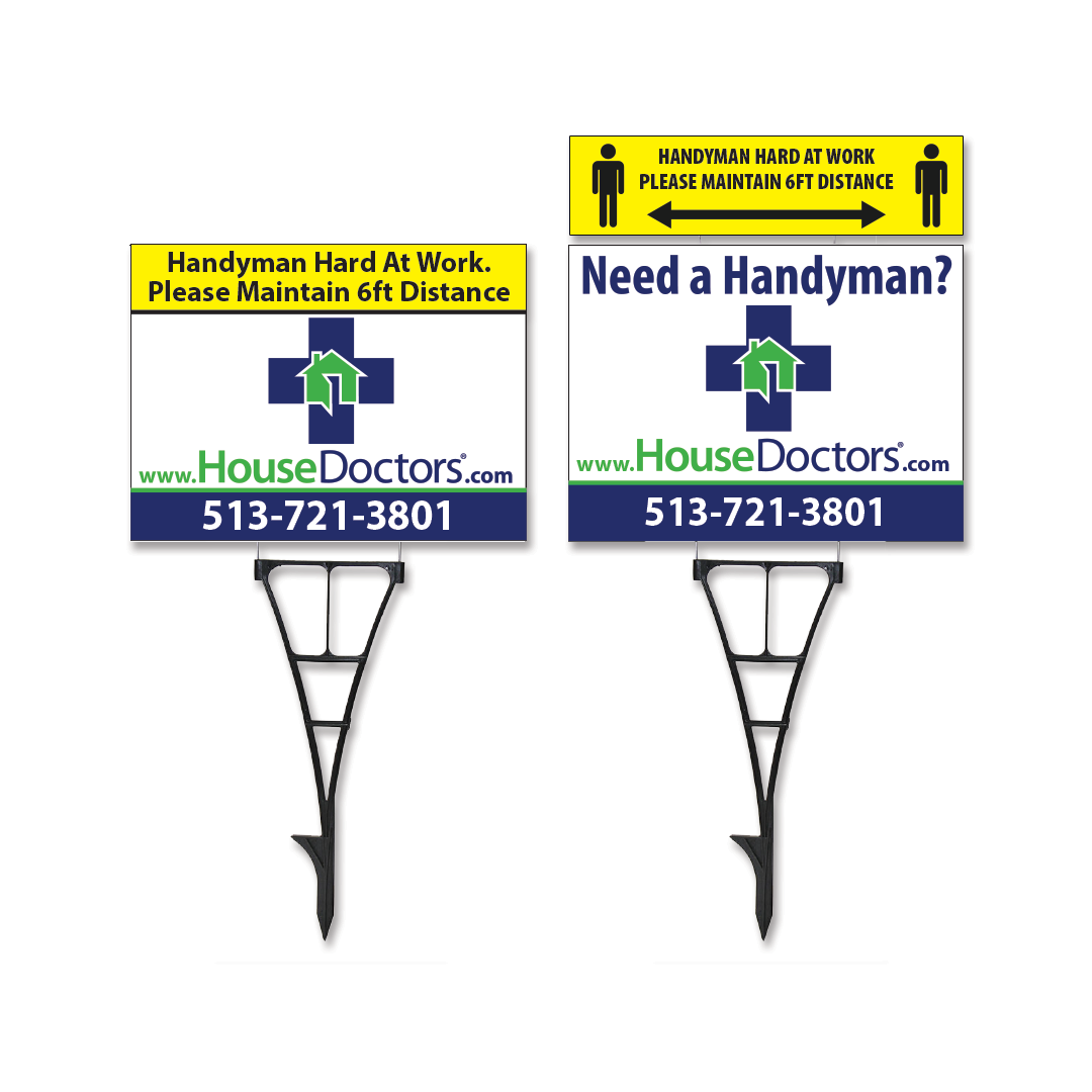 House Doctor Yard Signs and Ryder Sign