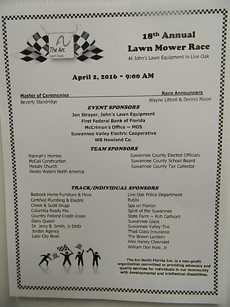 2016 Lawn Mower Race