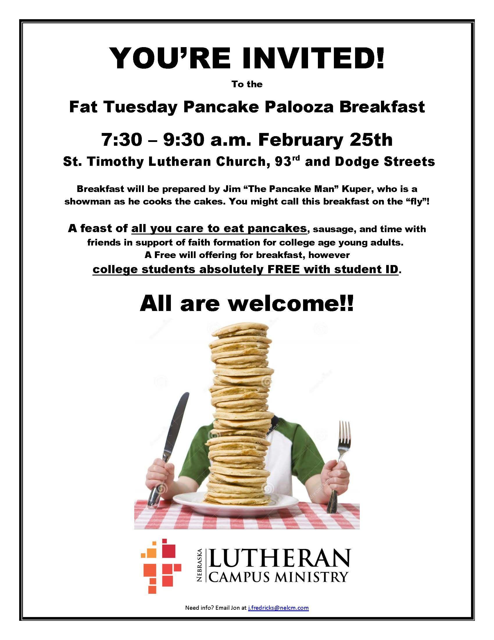NLCM- Shrove Tuesday Pancake Palooza