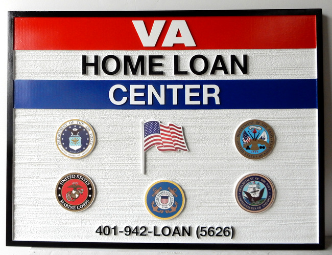 C12219 - Carved and Sandblasted Sign for VA Home Loan Center