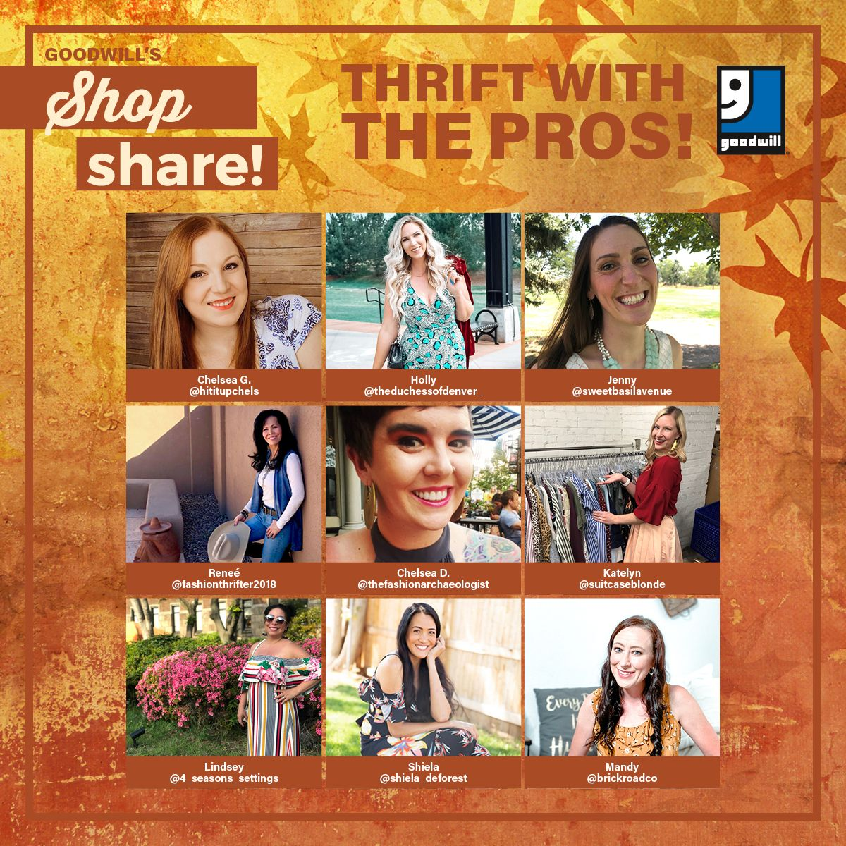 Shop & Share with THREE events in October! Thrift with the PROS!