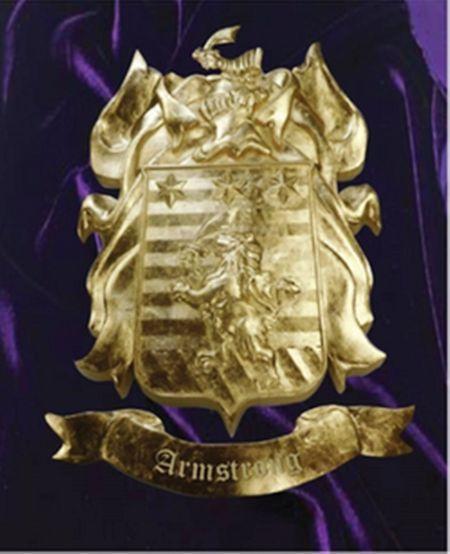 Gold-Leaf Gilded 3D Carved Coat-of-Arms