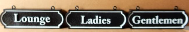 """RB27196 - Custom Engraved """"Gentlemen"""" and """"Ladies"""" Restroom Signs"""