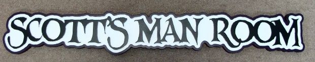 """N23634 - 2.5-D Carved HDU Wall Plaque for """"Scott's Man Room"""""""