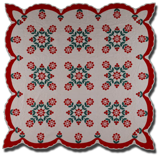 'Mrs. McGill's Cherries,' made by Grace McCance Snyder, made in Sunderland, Nebraska, United States, circa 1945, 90 x 90 in, NQP 4916