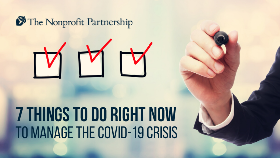 7 things to do RIGHT NOW to manage the COVID-19 crisis