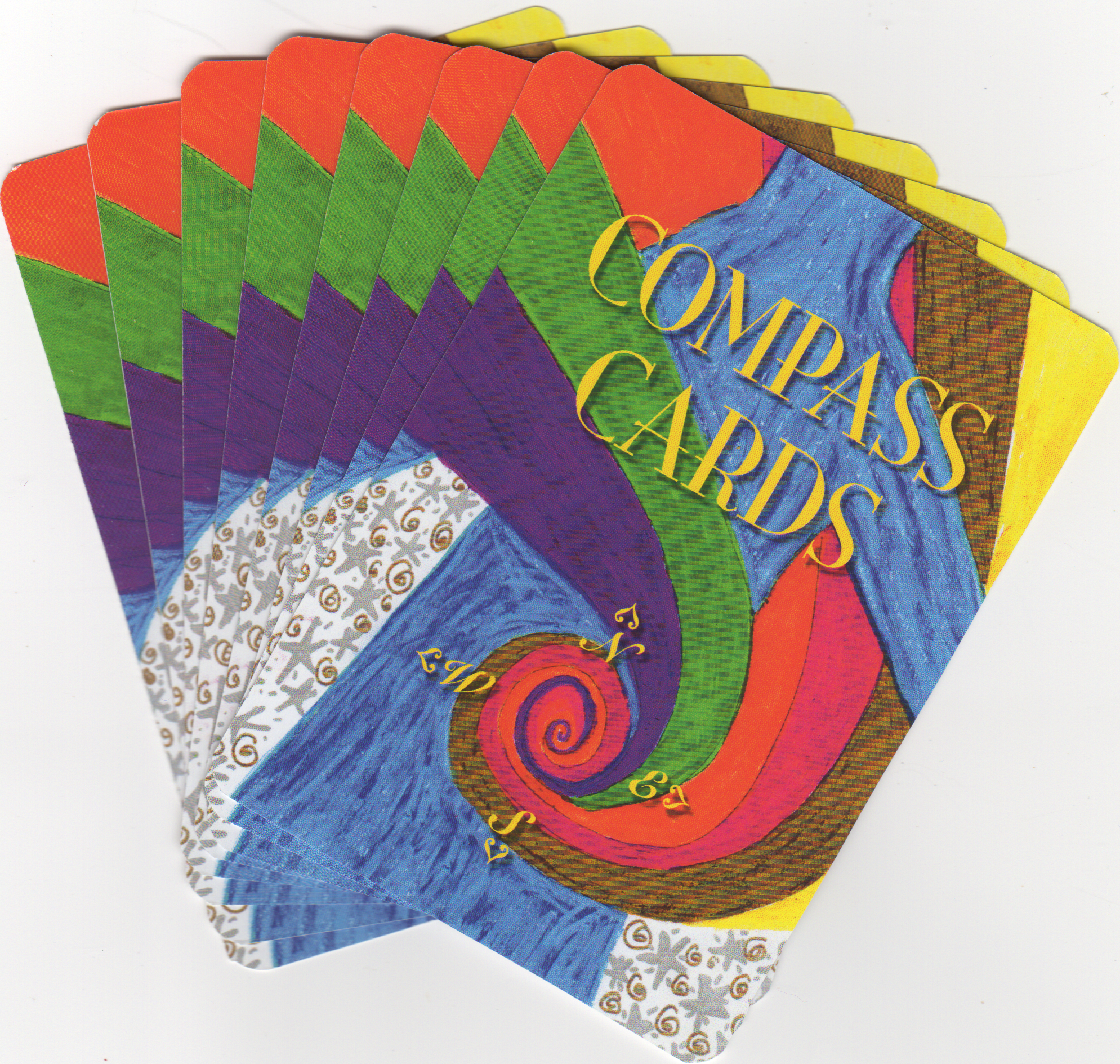 Compass Cards, by Melissa Granchi, 58 cards in deck packaged in a burlap sack