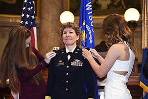 Brig. Gen. Joane Mathews becomes Army National Guard's first female Native American general