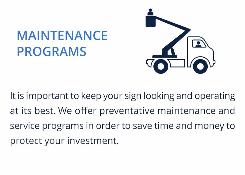 MAINTENANCE PROGRAMS
