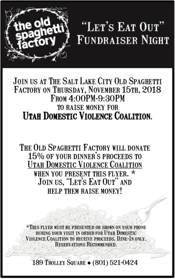 """""""Let's Eat Out"""" Fundraiser Night"""