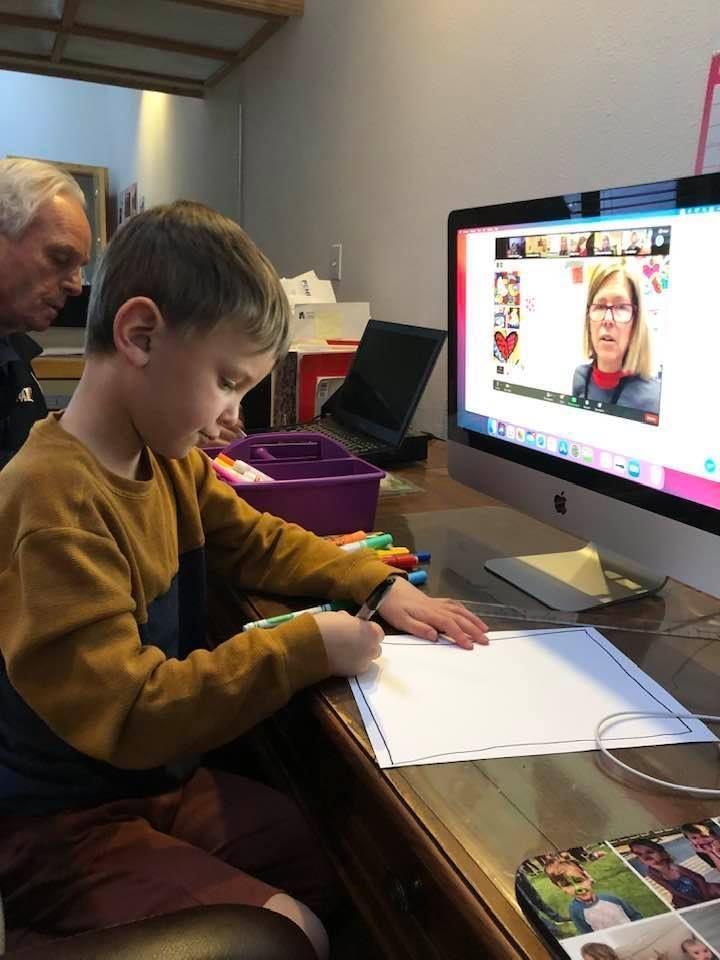 Scholar Circle Grandparent/ Grandchild Art Lesson Was A Hit!