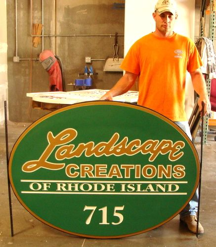 S28023 - Carved Sign for Landscaping Company