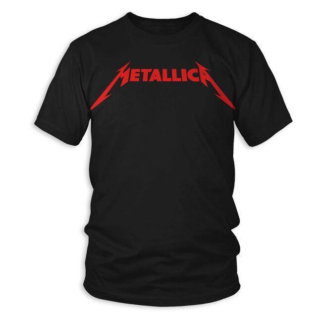 Red Metallica Logo T-Shirt