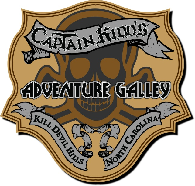 SA28673 - Carved HDU Sign for Pirates'  Adventure Galley,  with Skull &  Crossbones