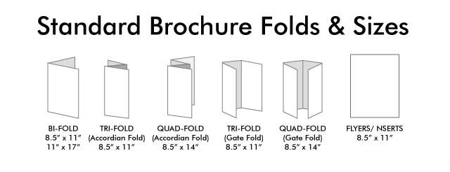 standard brochure folds and sizes