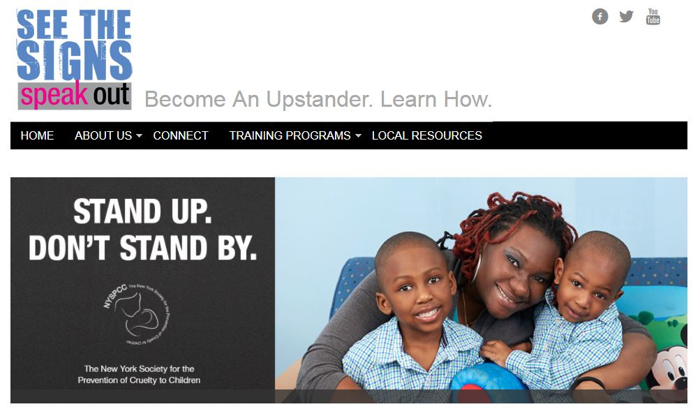 See the Signs & Speak Out: Become a Bystander