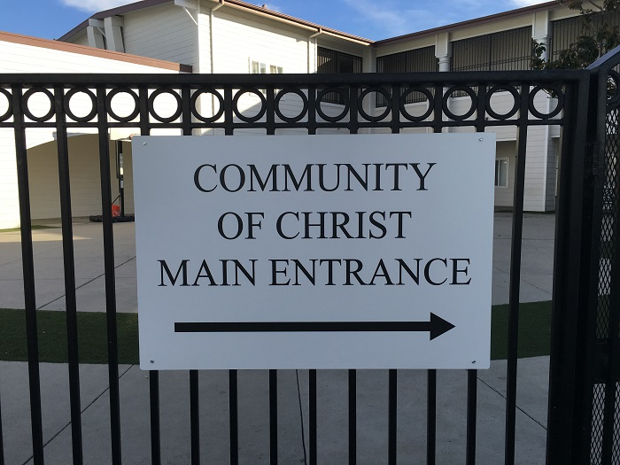 Church Directional Sign