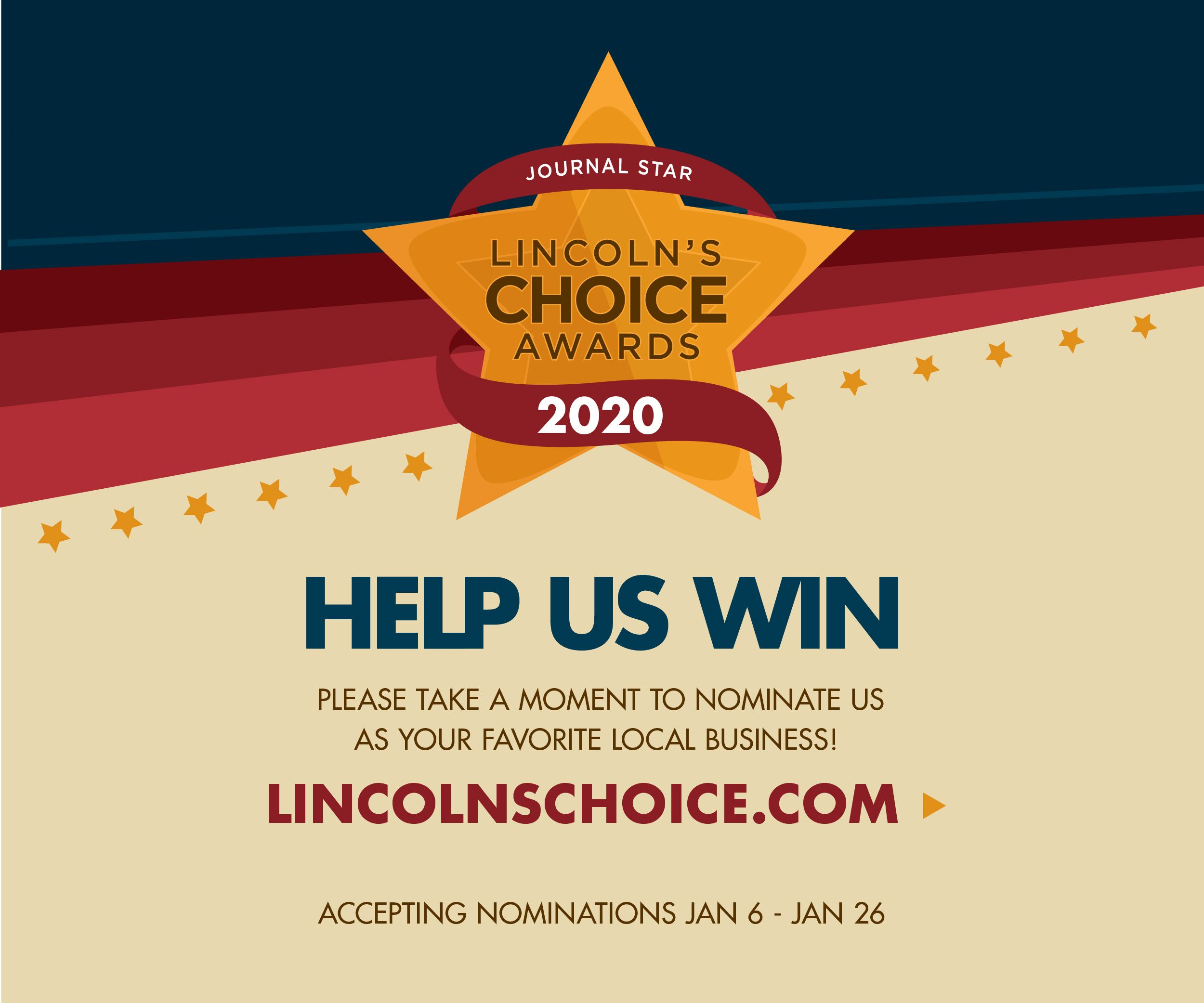 Nominate Tabitha for Lincoln's Choice Awards
