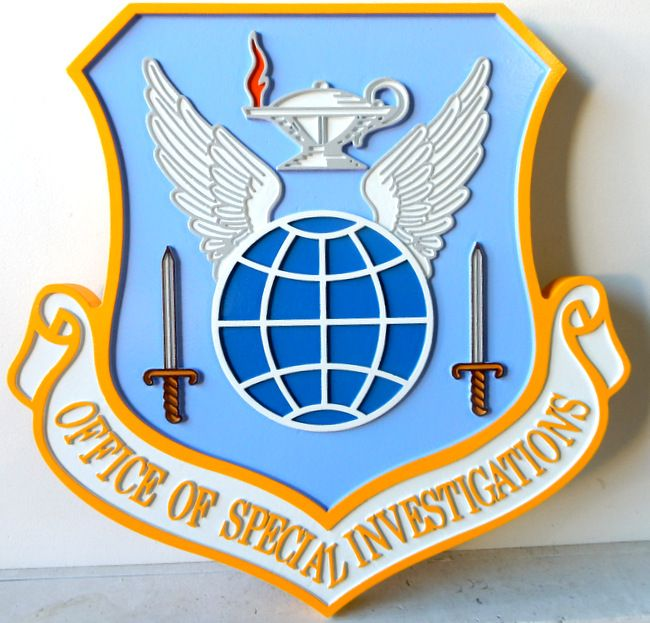 V31616 - Wall Plaque of the Shield and Crest of the Office of Special Investigations of the USAF