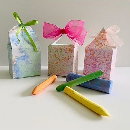 Speckled Paper Gift Boxes