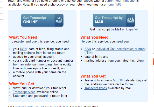 You Can Get Tax Transcripts From IRS.gov