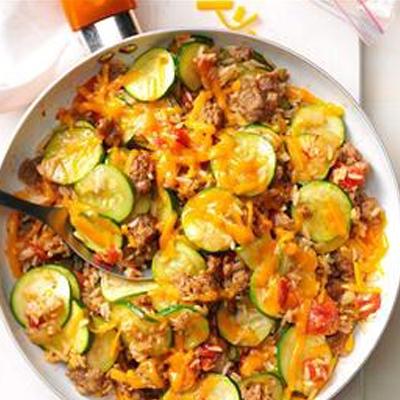 Sausage Zucchini Stovetop Casserole
