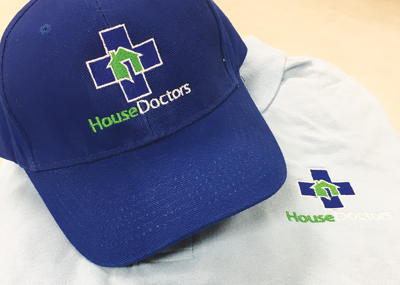 House Doctors Embroidered Shirt & Hat